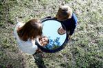 Round Mirror Boy Girl